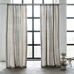 Spændede og smukke hør gardiner - find dem online